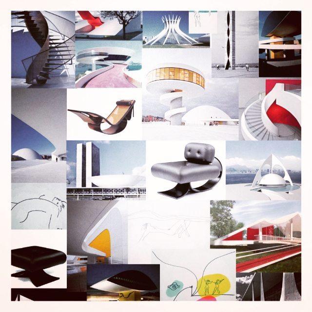 """Inspiración  Oscar Niemeyer """"No es el ángulo oblicuo que me atrae, ni la línea recta, dura, inflexible, creada por el hombre. Lo que me atrae es la curva libre y sensual, la curva que encuentro en las montañas de mi país, en el curso sinuoso de sus..."""