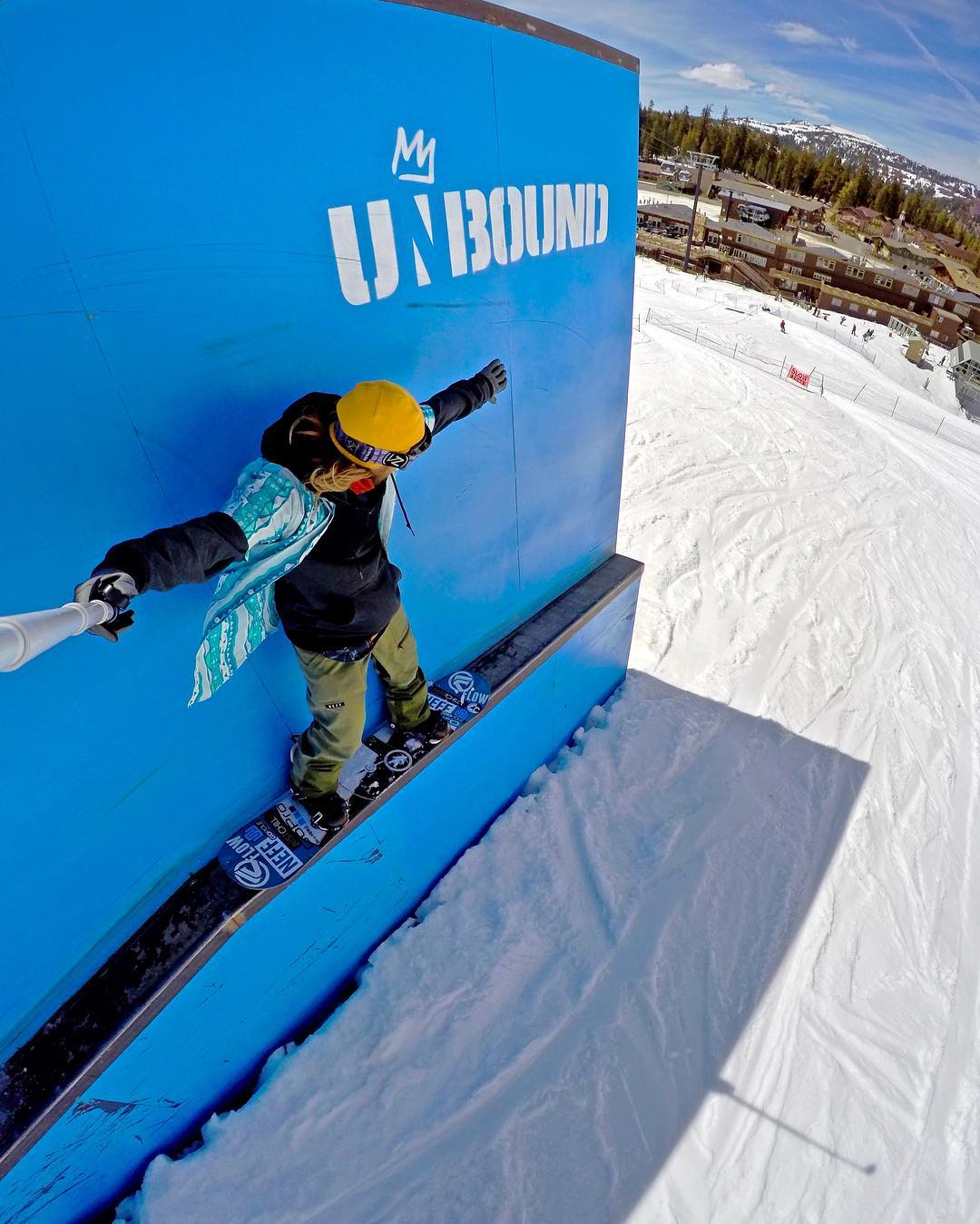 @timhumphreys winding down the season with a backside 50-50 at @mammothunbound. GoPro HERO4 | GoPole Reach #gopro #gopole #gopolereach #snowboarding #mammothmountain @mammothmountain