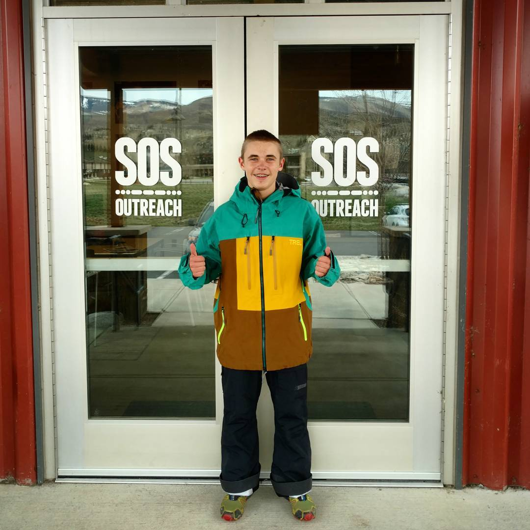 @sosoutreach is super #proud of Aaron for competing at the USASA nationals this year. #Thanks to @trewgear for helping us trick him out with some new outerwear!