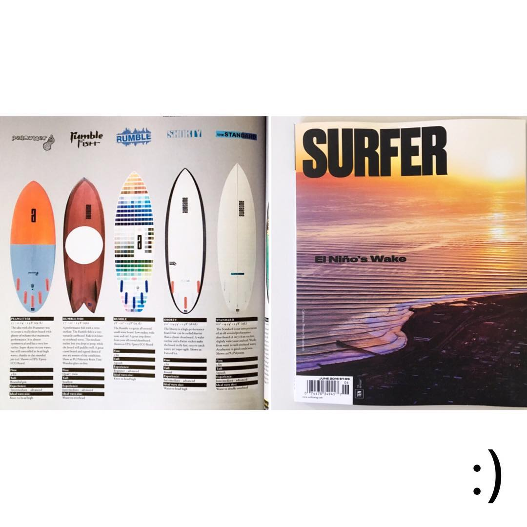 we are stoked to be part of the @surfer_magazine boardguide for 2016. big thanks to @vajyena  @hzahorseman @allourcustomers #awesome#awesomesurfboards #surfboard#surfboards#shredsled #guide