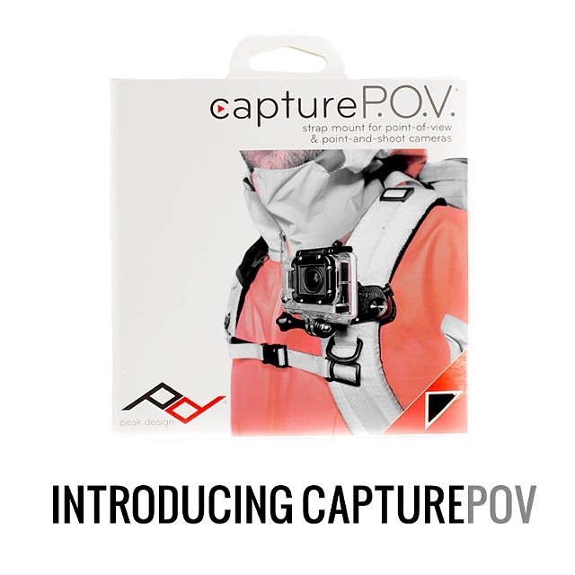Our newest camera clip is here! #CapturePOV, made specifically for #gopro and #pointandshoot. $15 cheaper than our POV Pack bundle.