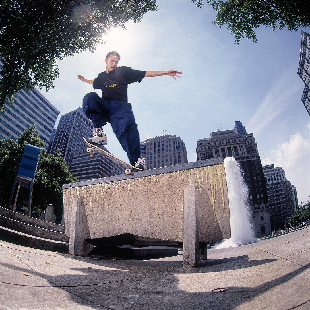 @joshkalis, Switch Crook at #LovePark in 1999. Photo by: @blabacphoto. #dcshoes #joshkalis #LifeOnVideo