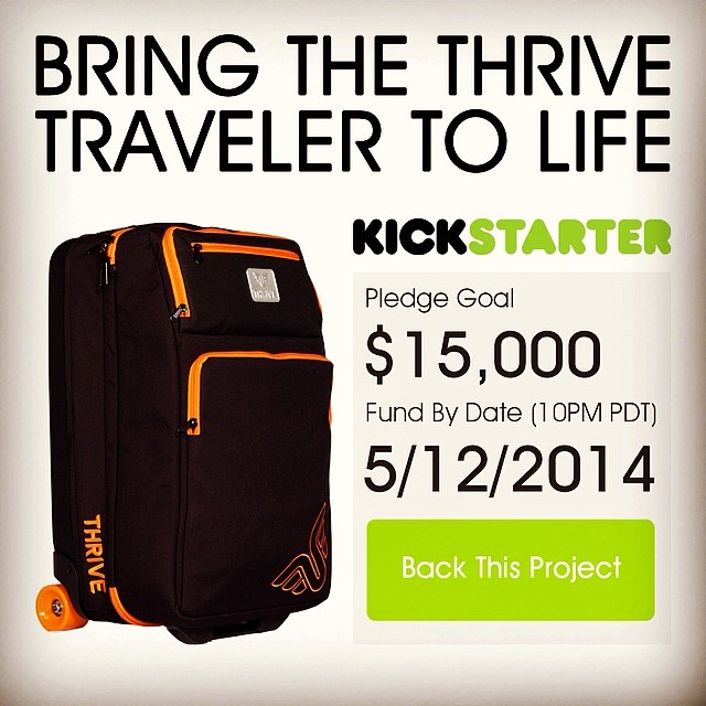 Thrive Traveler Skate Luggage #kickstarter #travelmore #skate #luggage