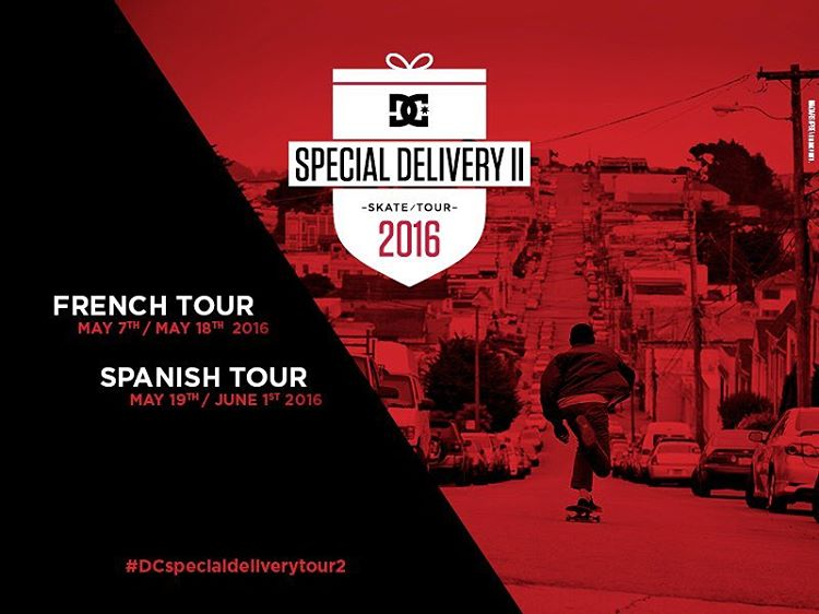 @madarsapse, @tiagolemoskt, and the EU skate team are hitting the streets of Europe in May & June for the Special Delivery Tour 2. For more info visit: dcshoes.com/DC_SDT2 #dchsoes #DCSpecialdeliverytour2