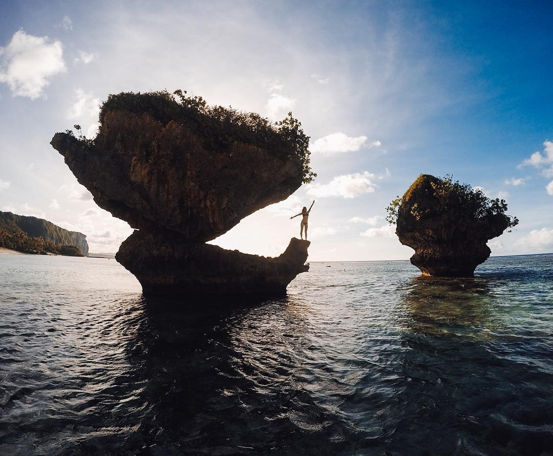 We're heading to the island of #Guam on this #TravelTuesday! @ryannberens had to bring her friends to her favorite beach and the beautiful rock formations! Where would you go? Share with us via link in bio! #GoPro #GoProGirl