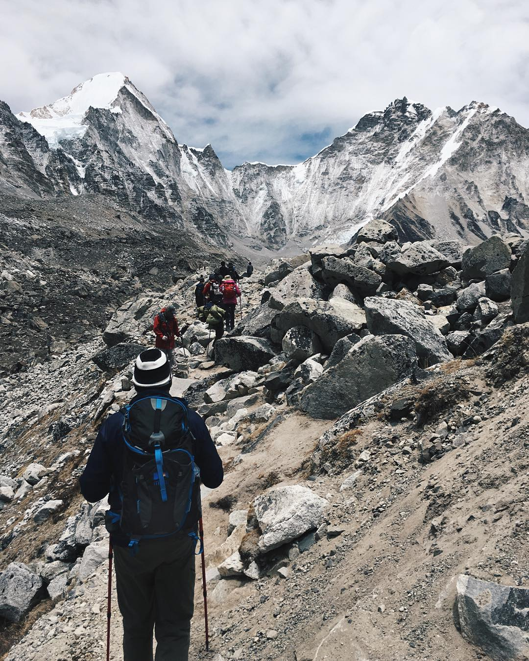 Trekking to Everest Base Camp with the Salute. Thanks Brendan! #MHMgear #PacksElevated #Everest #EverestBaseCamp