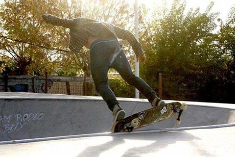 Autumn Skateboarding