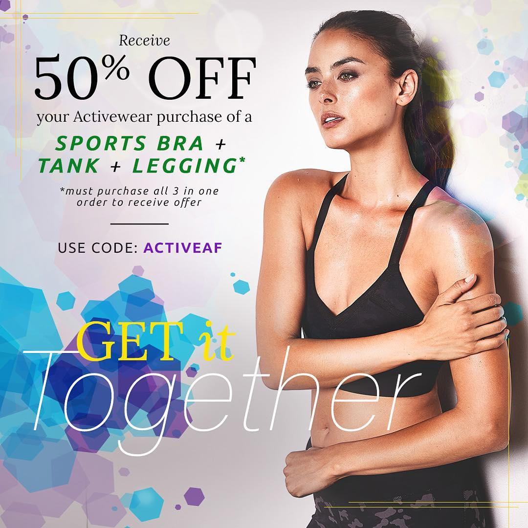 Looking to buy a new active outfit? Purchase a sports bra, tank & legging and we'll give it to you 50% off! #shop #active #fitness #gym #outfit #fashion #sustainable