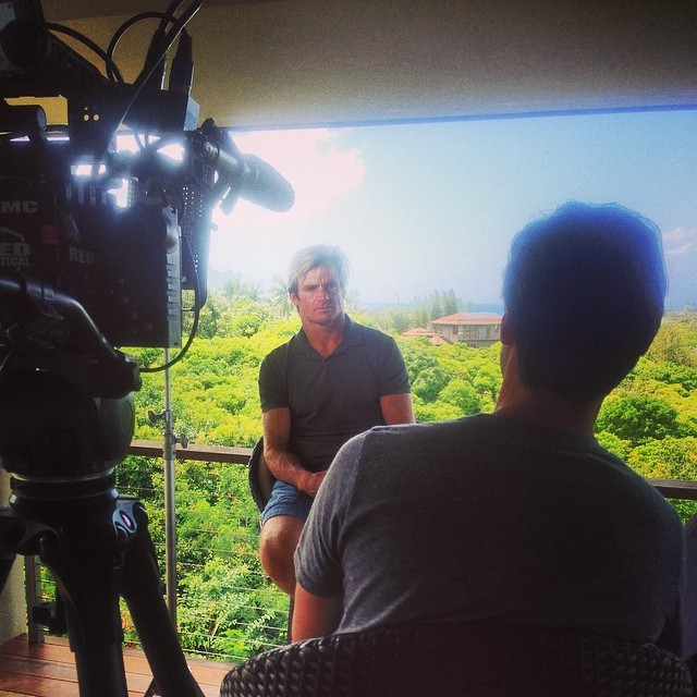 Beautiful day in Hawaii to be shooting with @lairdhamiltonsurf for our upcoming World of #xgames show!