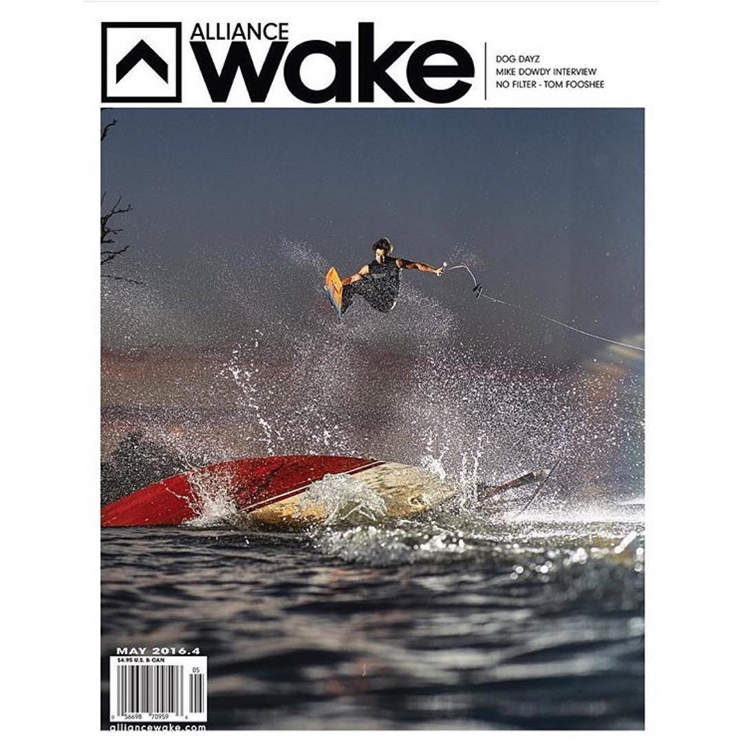 Shout out to team rider @cookslooks for landing the cover on the @alliancewake May issue. Check it out to get the full story of the @dogdayzfilm premier and our wake team! Thanks @alliancewake !! Photo// @rodrigosnaps  #hovenvision #hovenwake...