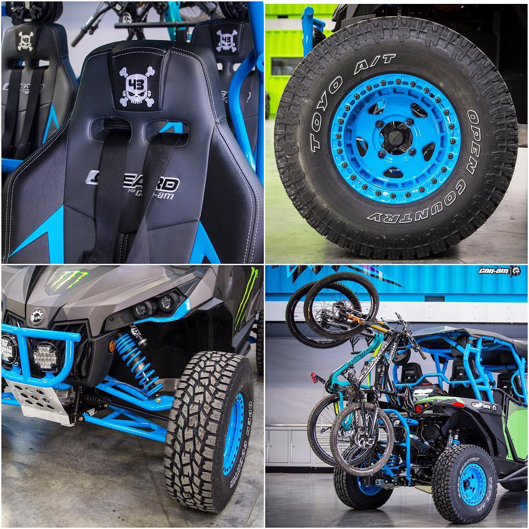 "Check out a few details of the mods done to our two custom @CanAmOfficial Maverick-X RS Turbo UTV builds: the two-door ""Desert Destroyer"", and the four-door ""Family Adventure Hauler"". Including custom UTV wheels from @fifteen52 wrapped in @ToyoTires!..."