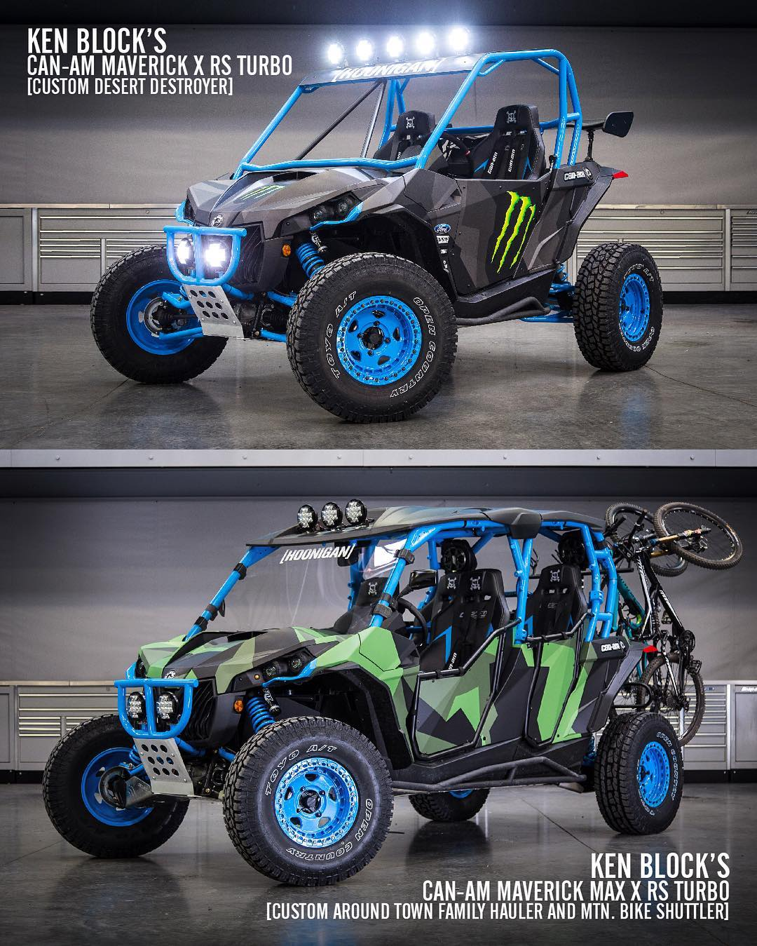 Remember those two rad @CanAmOfficial Maverick-X RS Turbo UTVs I showed you earlier this year? Yeah, there's no way they were going to stay stock for long. Ha. So we built each one with two different purposes: a two-door desert destroyer for rally and...