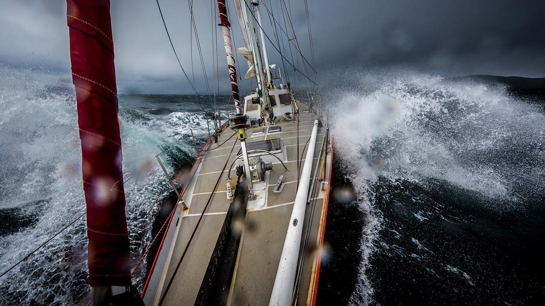 A 60-foot ketch (double masted sailboat) tosses and turns in the waters surrounding Cape Horn, the Southernmost point of Patagonia. @greg_a and @alexbuisse recently completed an epic sailing expedition through Tierra Del Fuego. Read about it in our...