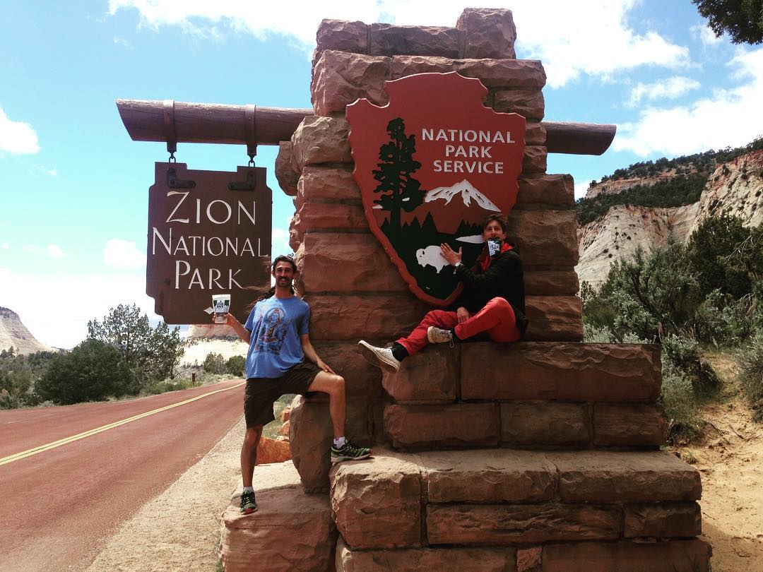 Arriving at Zion National Park this morning for some good times!