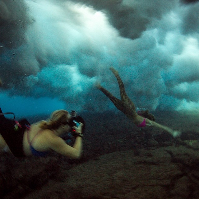 Under the sea with @alisonsadventures • photo by @marktipple • #marktipple @teekigram @odinasurf
