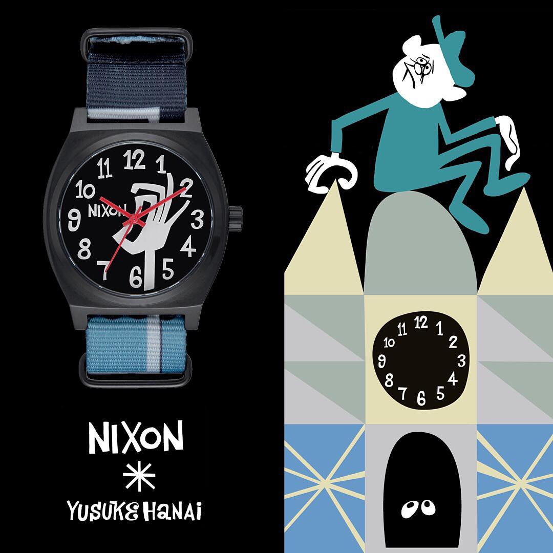 @hanaiyusuke puts his signature touch on these limited edition #Nixon x Yusuke #TimeTeller's featuring custom artwork and details. Learn more about the artists and collection at Nixon.com/happenings #Nixon
