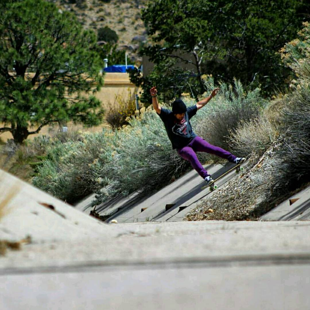 James Tracey--@deadbear13 sliding the crusty Albuquerque ditches on the Super Fatty!  Who is going to @ditchslap?