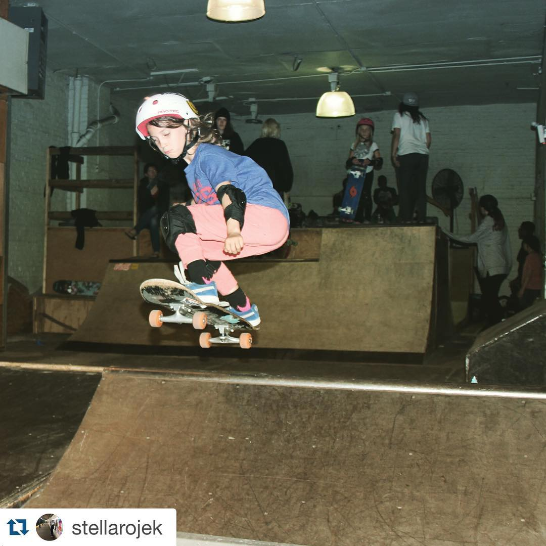 @stellarojek getting some air @homage_brooklyn last night