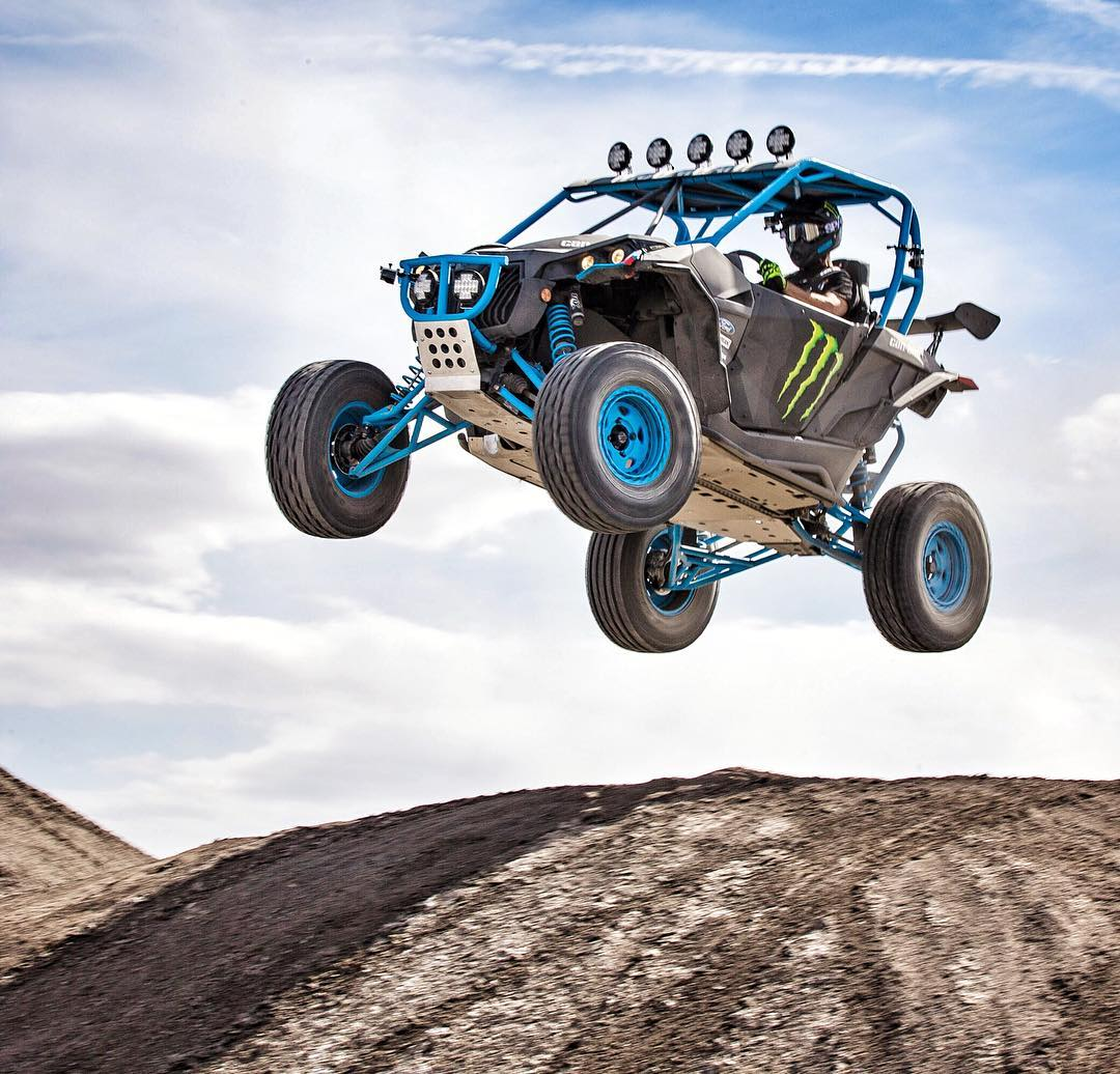 My favorite thing about these @canamofficial Maverick-X RS Turbo UTVs, is that they're pretty much a cross between two of my favorite vehicles: a dirtbike and a rally car. It's especially fun out in a place like Swingarm City in Utah, which has endless...