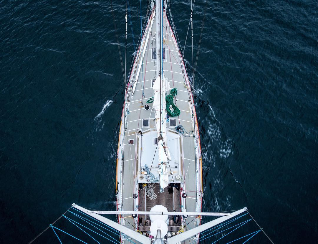 This shot, taken from atop the main mast of a 60-foot ketch named Selma, shows the calm waters in the Beagle Channel of Southern Patagonia. @greg_a and @alexbuisse recently completed a sailing expedition through the area, chronicled in our latest Field...