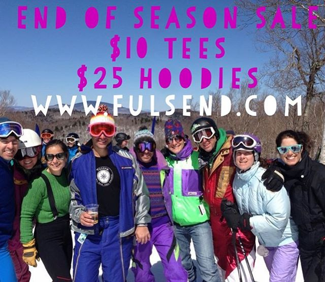 #tbt End of season sale still going! #justsendit #skiing #snowboarding #retro #throwback #gaper #mountsnow #springskiing #apres #neon #apresski