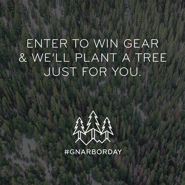 Just 2 days left to enter to win $4k in camera gear from Peak Design, @gnarbox, and more brands. Plus, we'll plant a tree for every entry! Follow @GNARBOX and click the link in their bio to enter. #gnarborday #findyourpeak