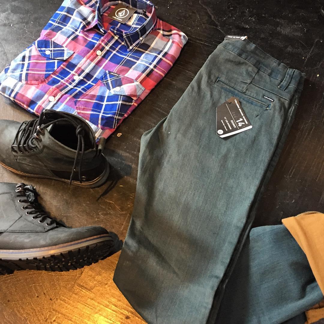 #newin 2x4 Chino Pant bicolor + Lanyard flannel + borcegos #aw16 se viene el invierno con todo! #truetothis