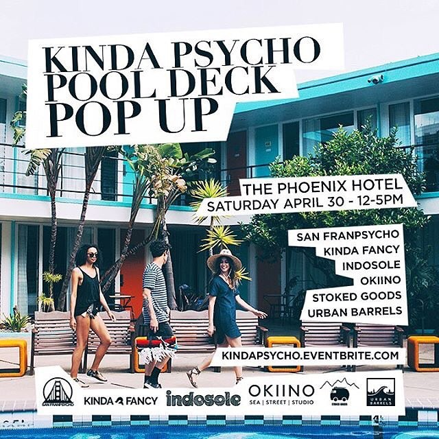 KINDAPSYCHO POOL PARTY ☀️ PHOENIX HOTEL POPUP SHOP ☀️ this Saturday we're taking over the pool deck with @jeffreyparadise and a handful of our favorite California makers for the Kinda Psycho launch. Excellent people, goods & vibes across the board from...