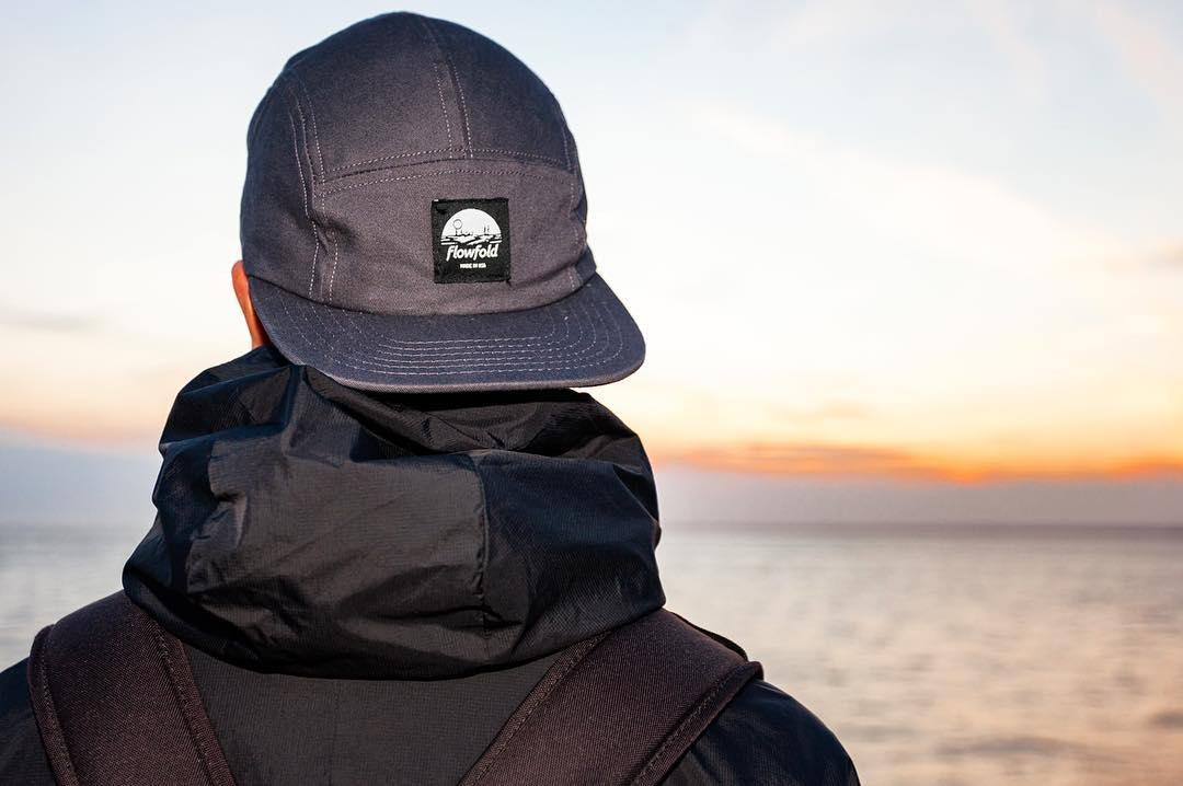 Freedom comes with simplicity. The less we need, the more we have.  The #Flowfold Island Icon hat is Made in USA from cotton twill. Find it using link in profile.  Photo by ambassador @frabbiter