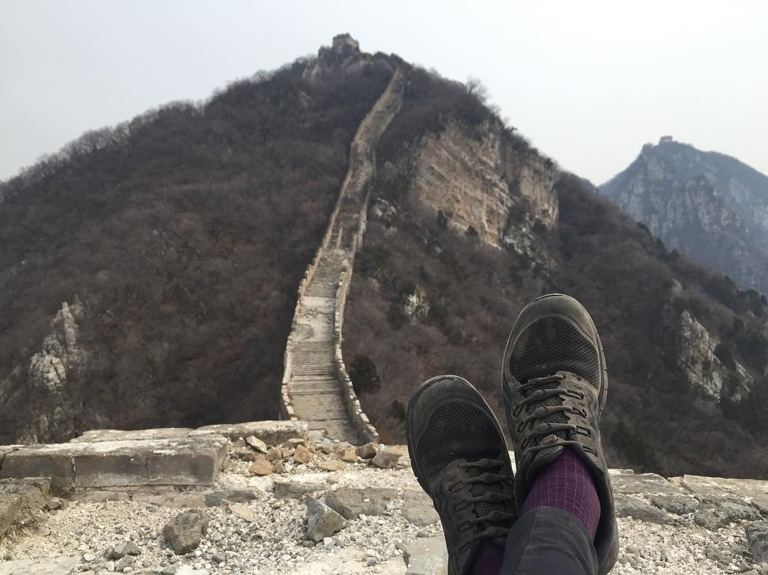 these slip-ons, they take you places. @heymegsy taking a break along the #greatwall of china. #lifewithoutlaces