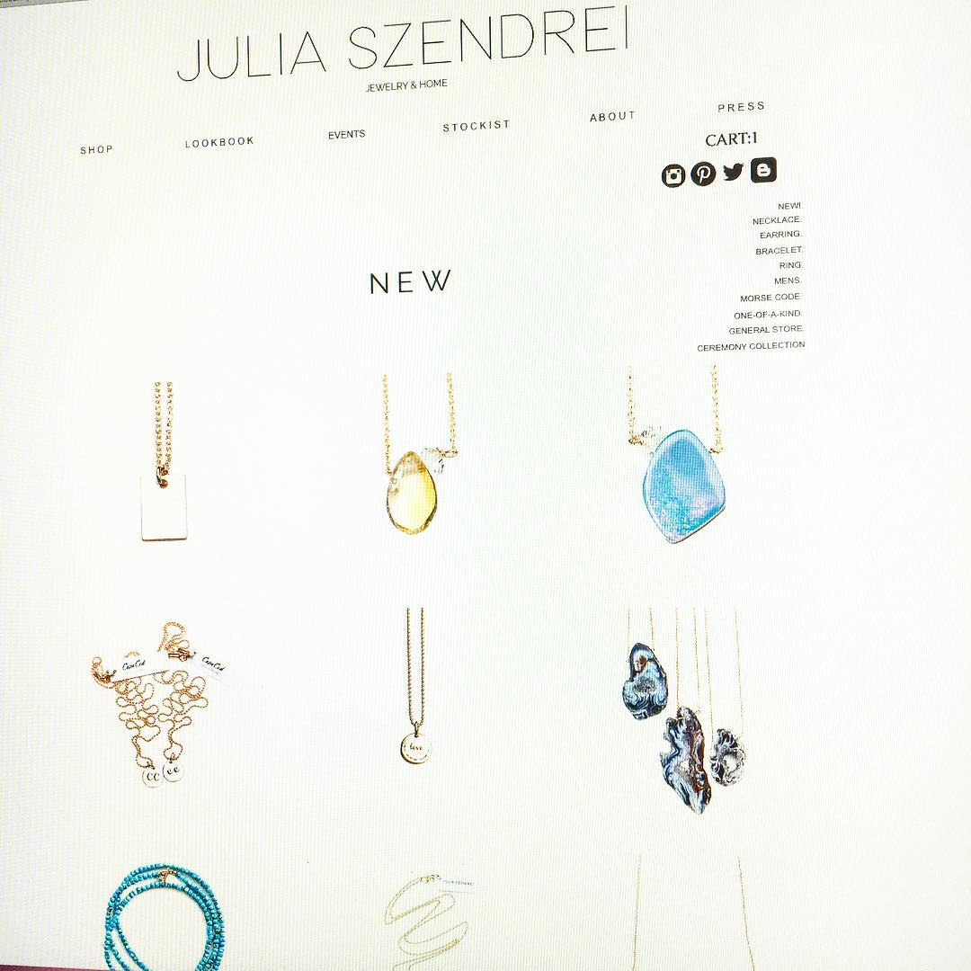 Web shop looking fresh for Spring! The newest additions are trickling into the New Section so keep your eyes pealed!  #opals #citrine #charmnecklaces #charmedlife #agate #juliaszendrei #turquoise #jewelry #lifestyle #yogastyle