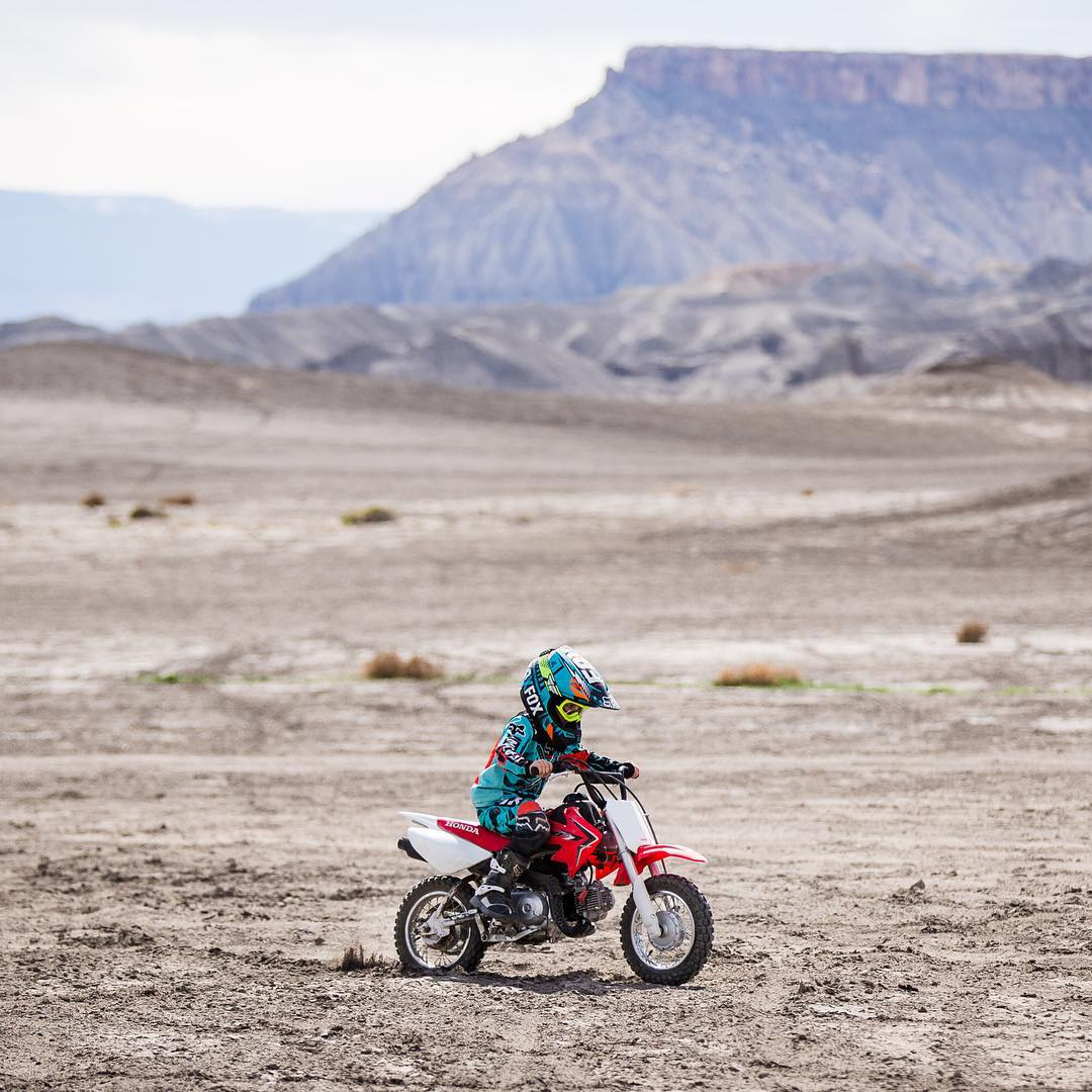 Gotta start them young! My son's birthday wish was to go the desert so he could ride his dirtbike and have some fun in the Can-Am UTVs. I'm pretty sure he didn't take his moto gear off for the entire trip! Ha. So proud of this little dude when I see...