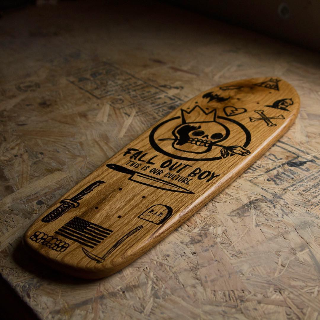 A limited edition deck we did for @falloutboy We're pumped on how they came out.