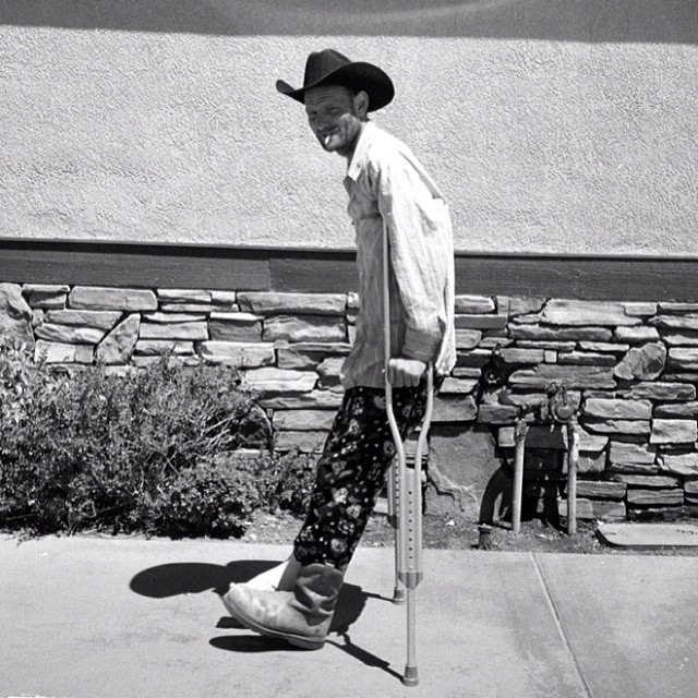 @bafetus is traveling cross country now and coming to a town near you. Stay up. #issue30 #steezmagazine #brookefrederick #cowboy #crutches