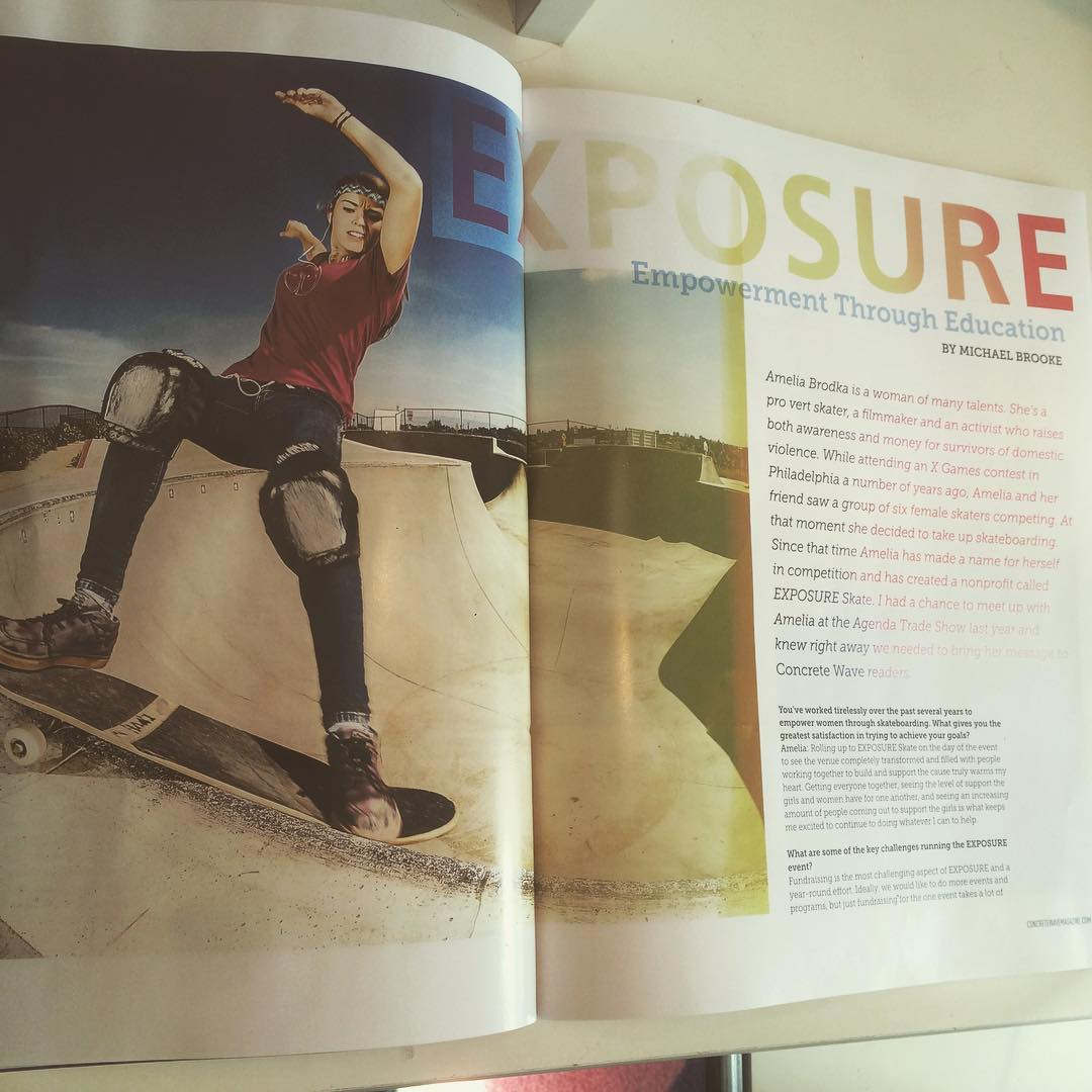 Co-founder @ameliabrodka talks EXPOSURE in the latest @concretewavemag ! Photos by @sparagram