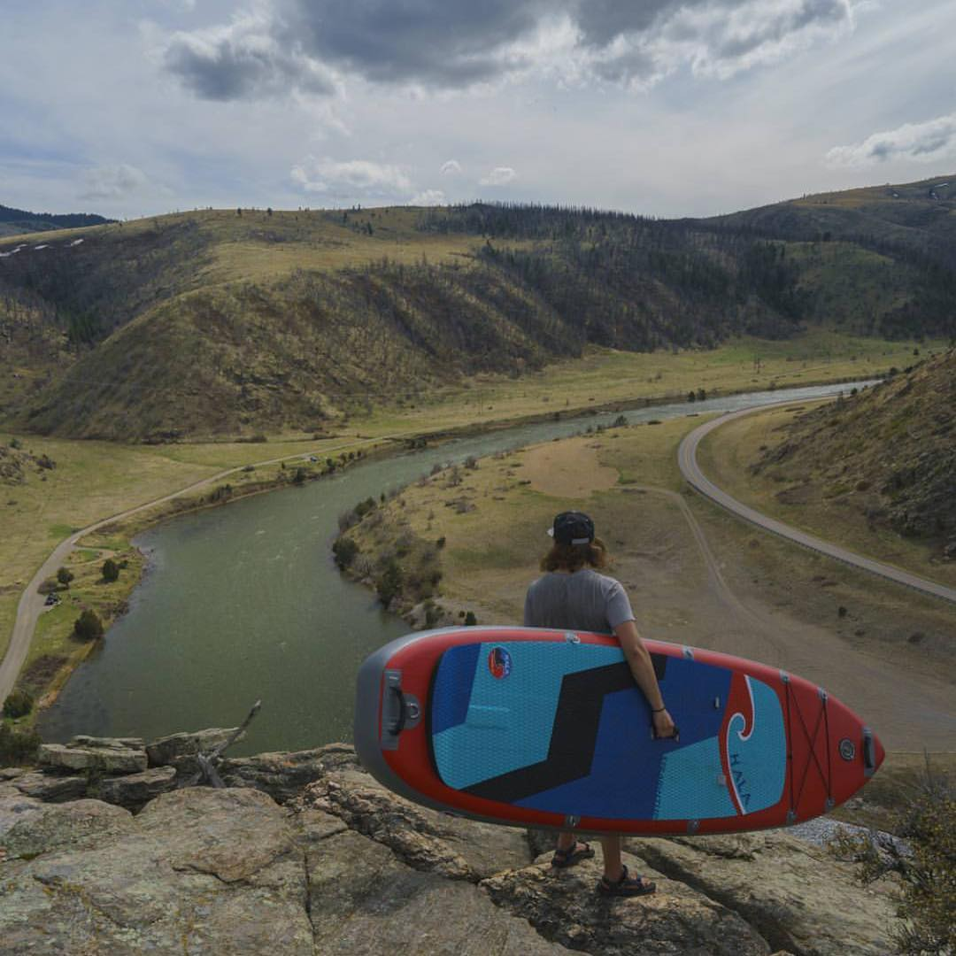 @geoffreybraught will embark on a massive trip, driving 15,000 miles to paddle board in all 48 continental states! Make sure to follow his page and @boardersmag to follow his adventures!  #halagear #adventuredesigned #paddlewithfriends #isup...
