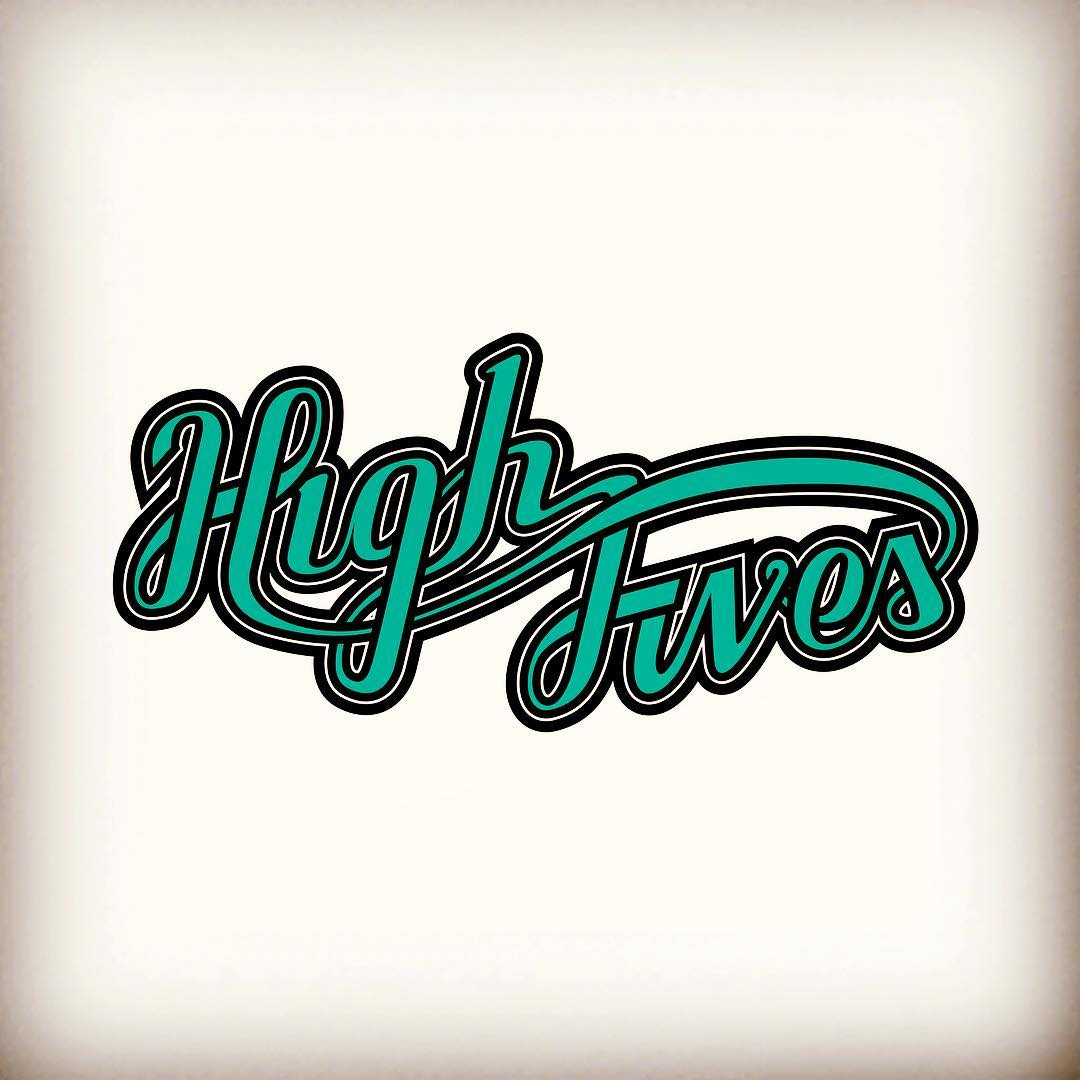 Working on some stuff for our favorite non-profit @hi5sfoundation #highfives #helmetsarecool #kinddesign #kindesign #handlettering #liveyourdream