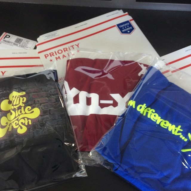 Shipping day! The orders are rolling in! Don't miss out on your chance to pick up your very own Flipside Fresh Tees today! #ski #skateboard #snowboard #extremesports #hiphop #dopetees #fsf #flipsidefresh #imdifferent #yoyo #graffitiwall #boardsohard...