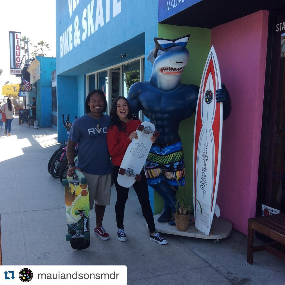 #Repost @mauiandsonsmdr with @repostapp. ・・・ Sometimes you just need to grab a skate and ride it out! Life's a wave, surf it. You never know where the journey will take you. #skateboarding #skating #skater #travel