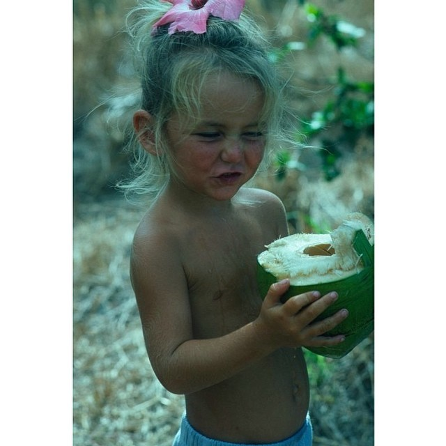 Some things never change... What's your fondest memories from childhood? #tbt #coconutgirl