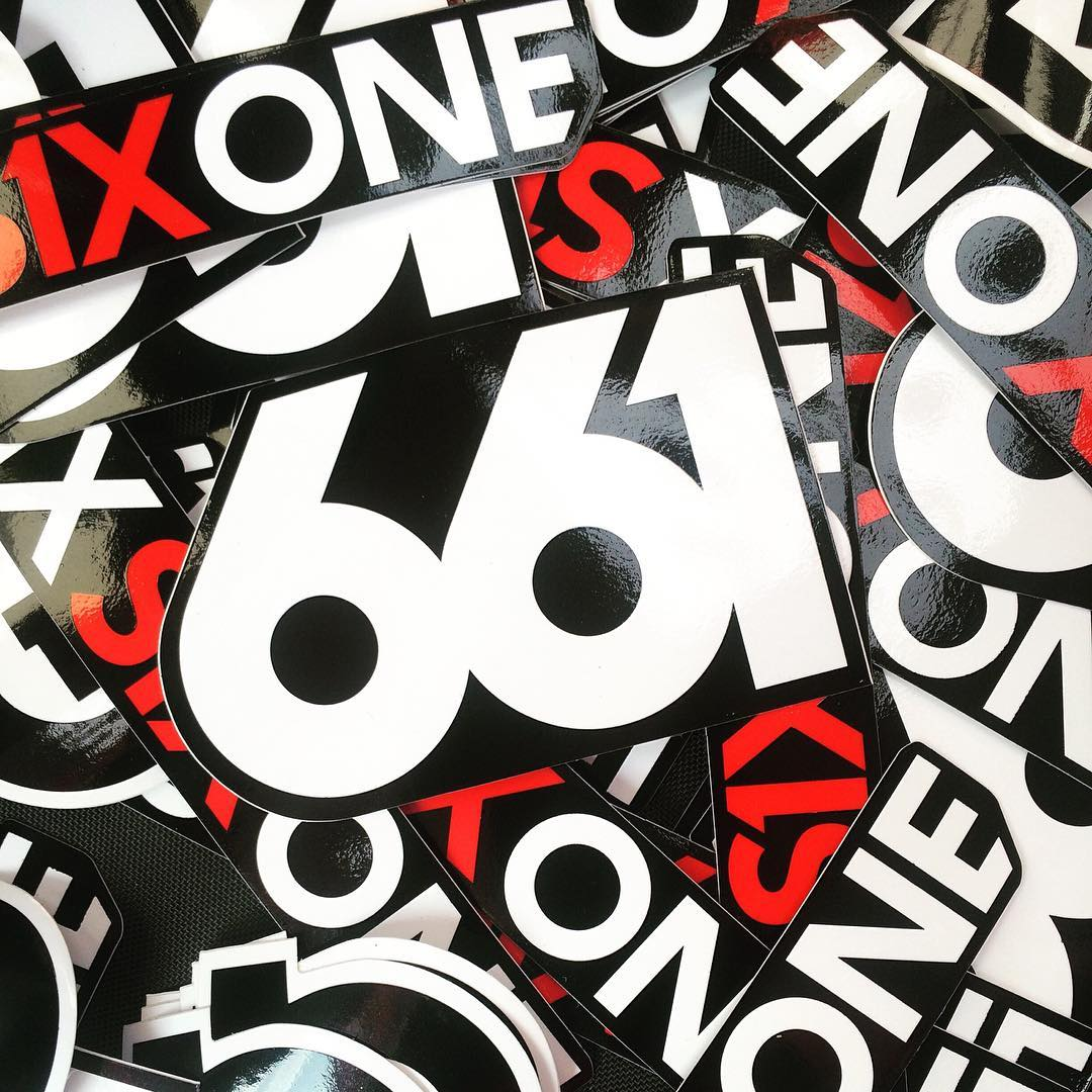 #RivaDelGarda bike festival in full flow, our #SixSixOne stickers proving popular as always... stop by our Cosmic Sports booth and say hi! #Gardabikefestival #661Protection #ProtectFun #Stickerbomb