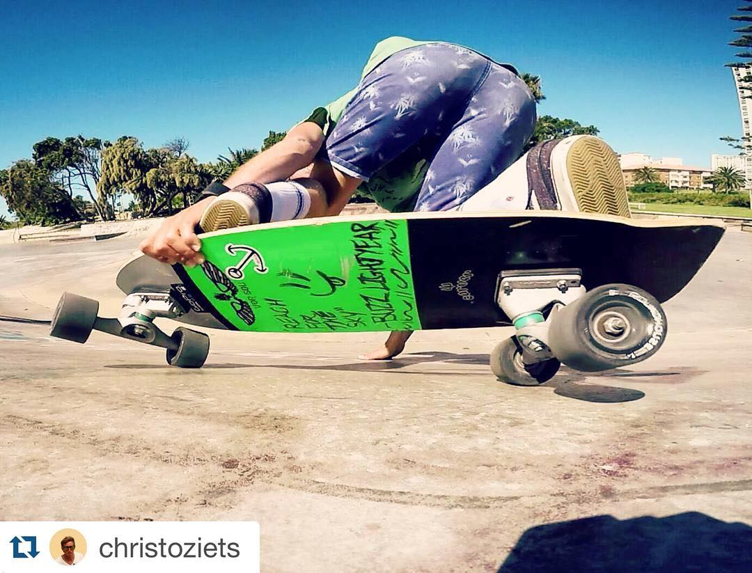 #Repost @christoziets with @repostapp. ・・・ Backhand grab rail carve. Get on that rail... #skate #insta #fun #friends #carverskateboards #stance #gopro #goprooftheday