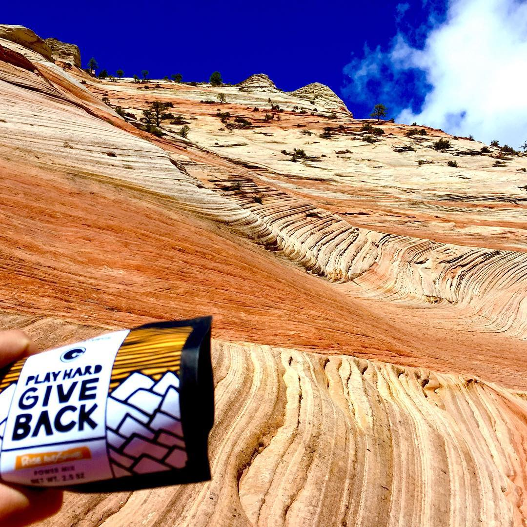 Sunny days in Zion NPS #playhardgiveback #phgb #givesyoupurpose