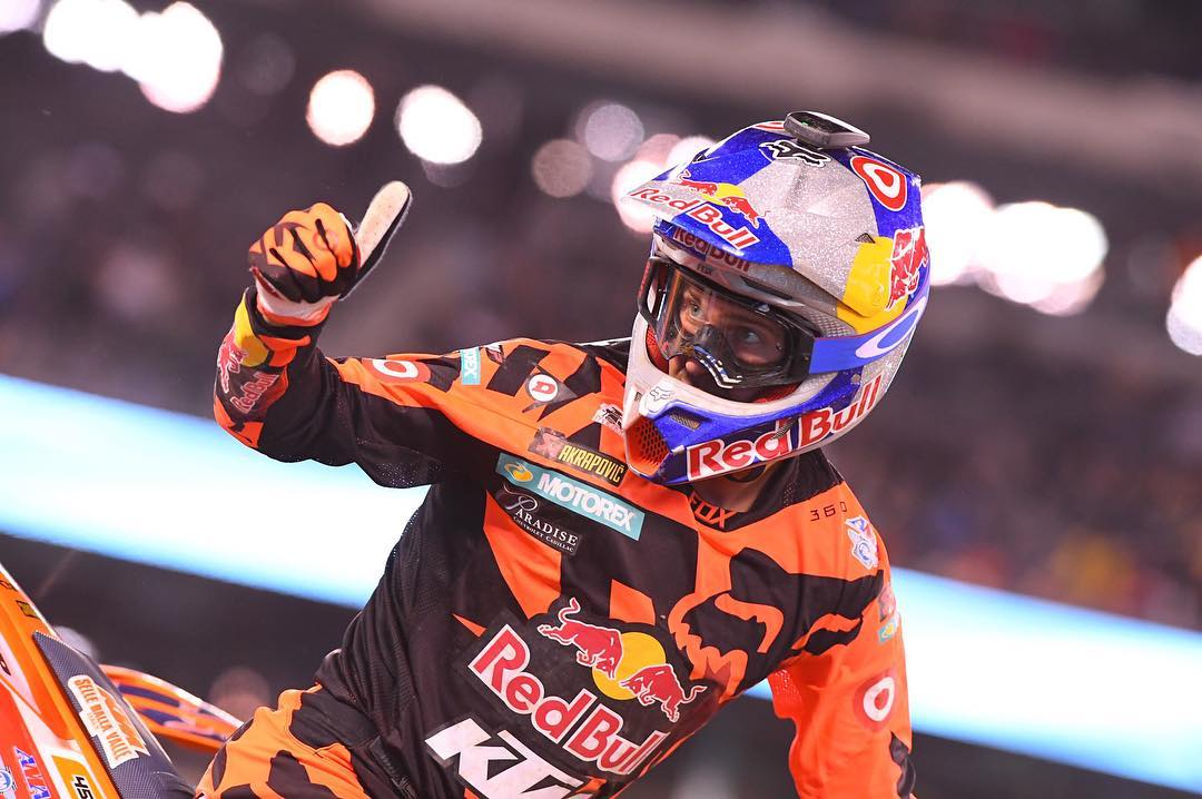 Best in class, again.  Congratulations to @ryandungey on back-to-back @supercrosslive titles. #AirbrakeMX