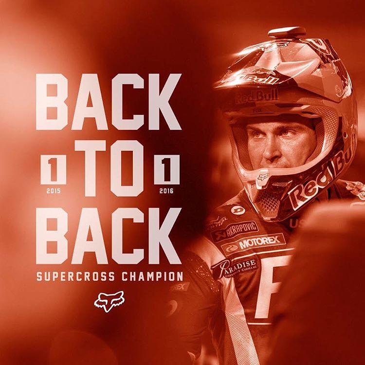 #backtoback  #champion  @ryandungey @foxheadinc @foxracing ... #foxheadargentina #motocross #supercross