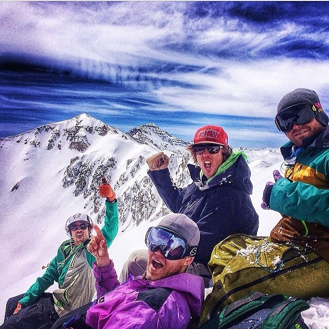 #regram from @bgragnolati and the @aspensnowmass #trewcru havin one yesterday on Mt. Hayden. They look trewly stoked