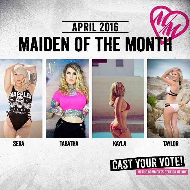 It's that time of the month! Help us choose Aprils @MetalMulishaMaidens of the month...