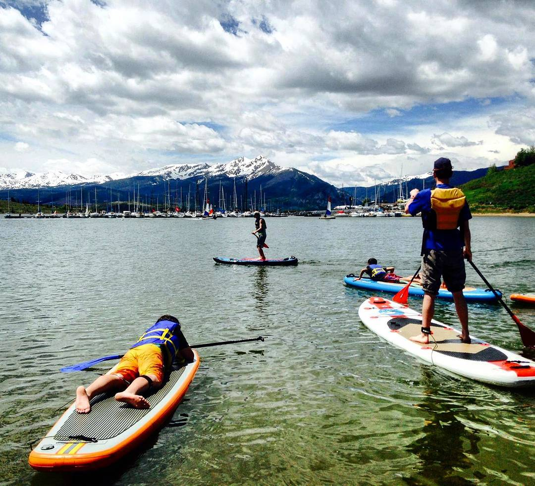 Our #summit county youth cant wait for days like these! #SUPing and #sailing are on the calendar for this years Back Yard #Adventure programs.