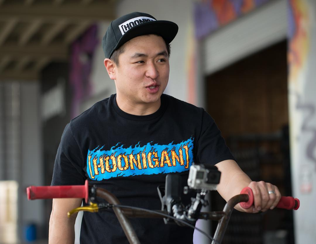 @geoffstoneback in our new Streets on Fire tee and likely up to some nonsense. Check out what's new on #hooniganDOTcom.