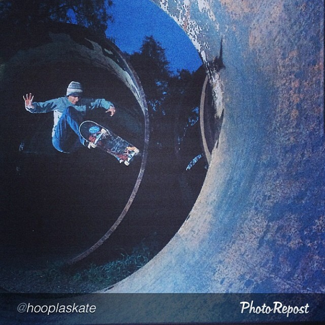 "by @hooplaskate ""#tbt #throwback of #hooplaskate co-creator @cbburnside with an ollie transfer at the old pala pipes 